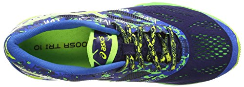 ASICS Gel-Noosa Tri 10, Herren Outdoor Fitnessschuhe Blau (Midnight/Flash Yellow/Flash Green 4907)