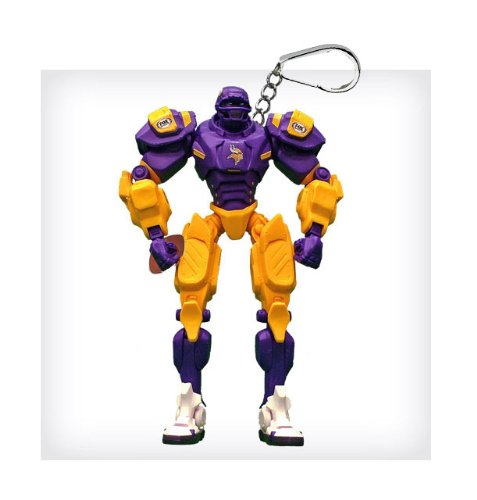 "Minnesota Vikings 3"" Team Cleatus FOX Robot NFL Football Key Chain Version 2.0"