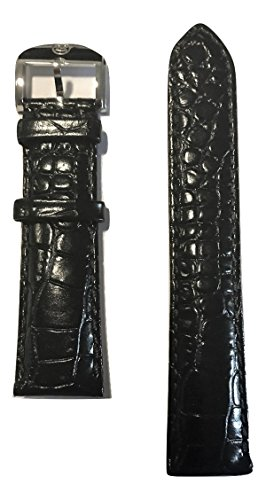 Movado Black Leather Band Strap for Movado Men's Circa Watch Model: 0606575 -  MOV-569302516