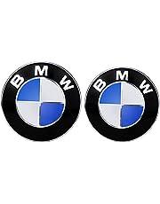 Emblems Hood and Trunk, Set of 2( Blue+White ) BMW Badge Logo Replacement 82mm + 74mm Fit for All Models BMW X3 X5 X6 3 4 5 6 7 8 Series 325i 328i E30 E36 E46 E34 E39 E60 E65 E38