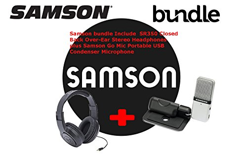 Samson Go Mic USB Compressor Microphone with SR350 Over-Ear - Mic Compressor