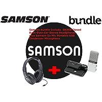 Samson Go Mic USB Compressor Microphone with SR350 Over-Ear Headphones