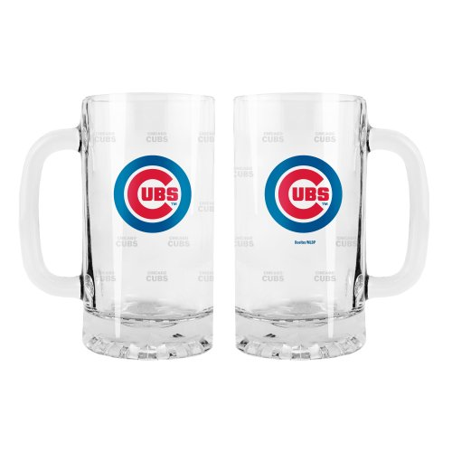 Pattern Mlb Chicago Cubs - MLB Chicago Cubs 2-Pack Satin Etch Tankard Mug