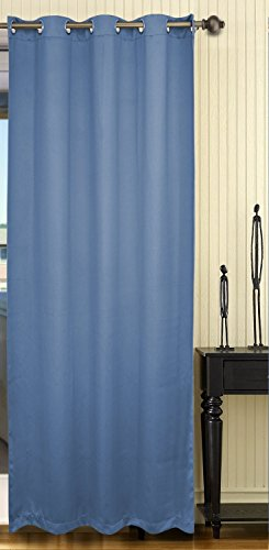 Maison 2 Light (Maison Decor Thermal Insulated Blackout Panel Curtain, Royal Blue, 52 By 84 Inch ,Single Panel)