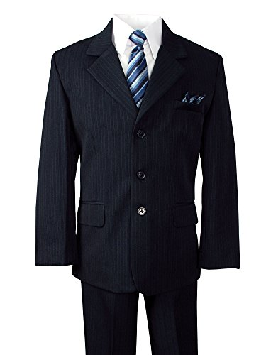 Spring Notion Little Boys' Pinstripe Navy Suit 4T
