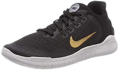 970740194d920 Nike Women s Free RN 2018 Black Metallic Gold Vast Grey Running Shoe 6.5  Women