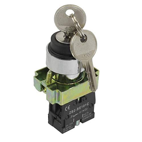 BIN BON - 22mm Locking 1 NO Two 2-Position Keylock Selector Select Switch ZB2-BG21
