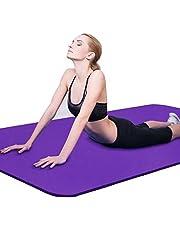 Binwwe Esterilla de Yoga Esterilla de Ejercicio Antideslizante Gruesa para Entrenamiento en el Hogar Gimnasio Fitness Deportes Almohadilla de Ejercicio