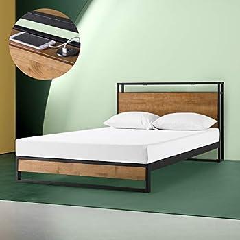 Amazon Com Zinus Suzanne Metal And Wood Platform Bed