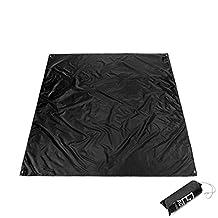 Businda Multifunctional Garden Fishing Camping Mat with Oxford PU Coating,Rain Shade Sunshade Tarp Waterproof Picnic Mat