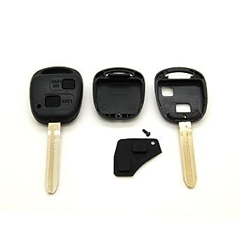 Toyota - Carcasa para llave y mando a distancia para Toyota Yaris, Celica, Colorado y Prius (incluye espadín)