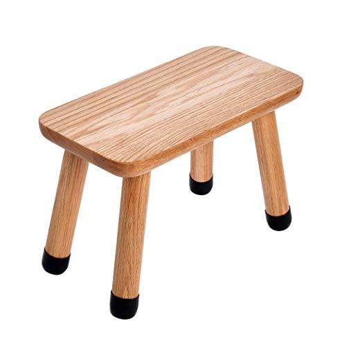 (lquide Solid Wood Footstool Oak Children's Stool Dressing Stool Foyer Change Shoe Bench with Wooden 4 Legs, Load-Bearing 150kg)