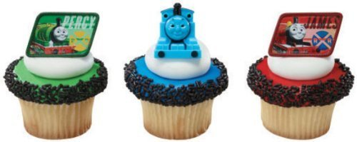 (36 ~ Thomas the Train & Friends Rings ~ Designer Cake/Cupcake Topper ~)