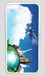 Aircraft and Eiffel Thanksgiving Halloween Masterpiece Limited Design PC Transparent Case for iphone 6 by Cases Mousepads
