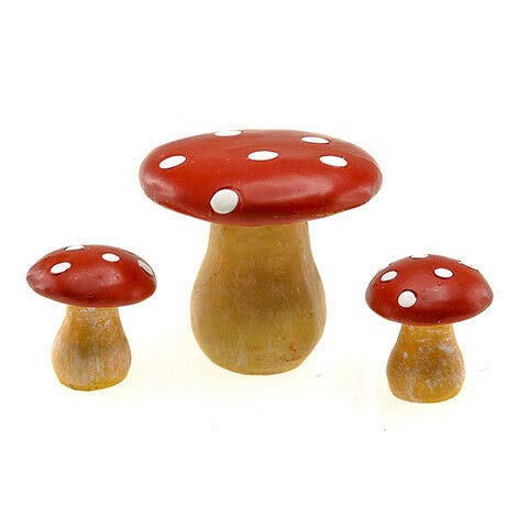 ShopForAllYou Figurines and Statues Miniature Dollhouse Fairy Garden - Mushroom Bistro Set - Accessories