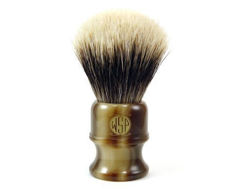 Badger Shaving Brush Large (26mm) Extra Dense SuperFine 2 Band Silvertip WSP Stubby by Wet Shaving Products