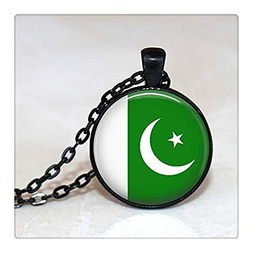 Sunshine Pakistan Necklace, Pakistan, Pakistan Flag , Islamabad ,Unisex Pendant ,Dome Glass Ornaments, Gifts for her