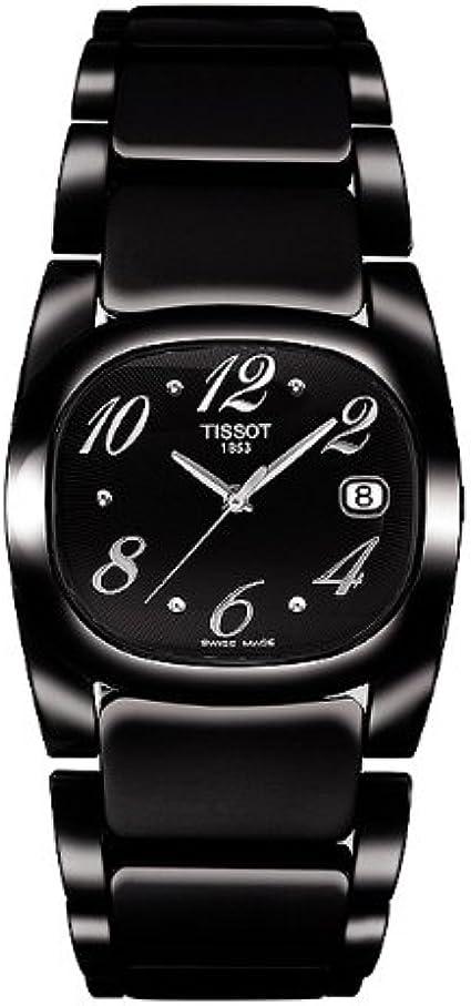 Tissot T-Moments T 0091101105701 - Reloj de Mujer de Cuarzo, Correa de Acero Inoxidable Color Negro