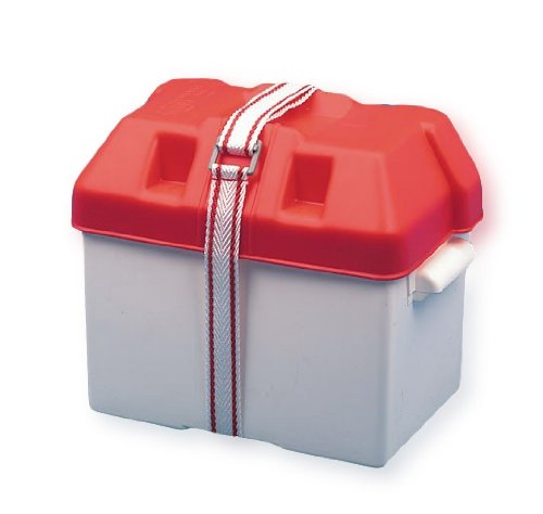 Batteriekasten 270 x 182 x 196 weiß/rot
