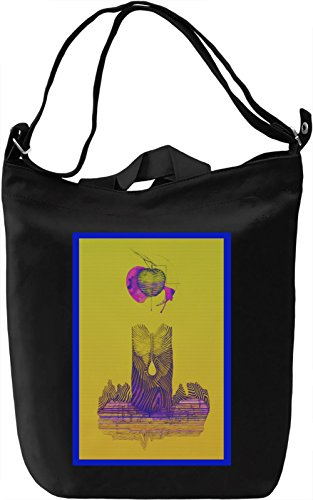 Psychedelic Apple Borsa Giornaliera Canvas Canvas Day Bag| 100% Premium Cotton Canvas| DTG Printing|