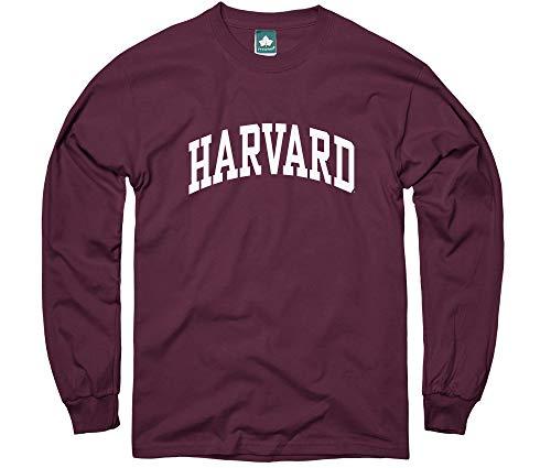 Ivysport Harvard University Long-Sleeve T-Shirt, Classic, Crimson, Small