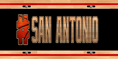 (BleuReign(TM) Basketball Team Hashtag San Antonio #SanAntonio Car Vehicle License Plate Auto Tag)