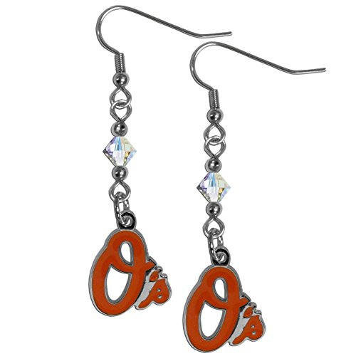 Mlb Baltimore Orioles Charm (MLB Baltimore Orioles Crystal Dangle Earrings)