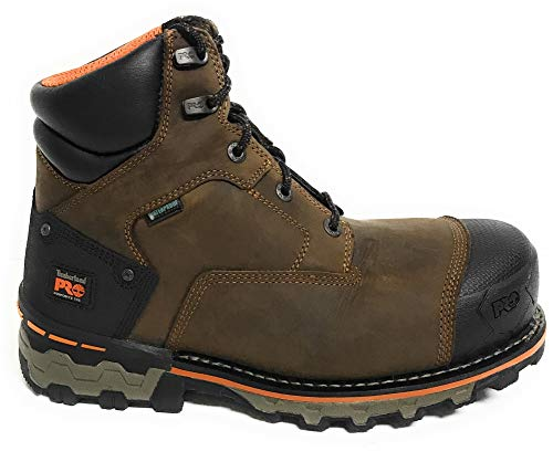 Timberland PRO Men's Boondock 6 Inch Waterproof Non-Insulated Work Boot,Brown Oiled Distressed,9.5 M US
