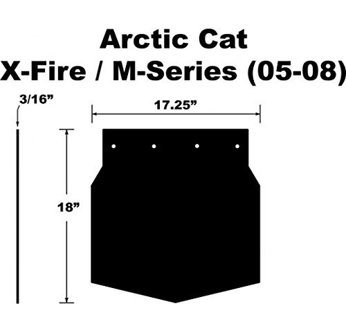 Proven Design SF-058MSPB Snowmobile Mud Flap Arctic Cat M-Series/X-Fire 2005-2008 Plain Black Snow Flap