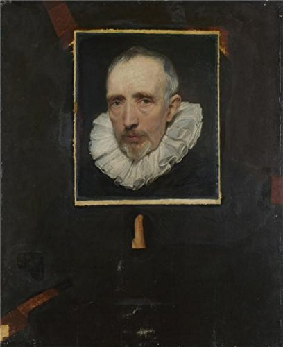 Perfect Effect Canvas ,the Best Price Art Decorative Canvas Prints Of Oil Painting 'Anthony Van Dyck - Portrait Of Cornelis Van Der Geest,about 1620', 10x12 Inch / 25x31 Cm Is Best For Home Office Gallery Art And Home Decoration And Gifts