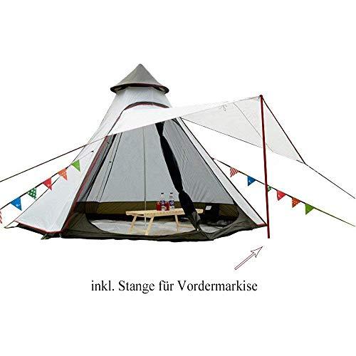 Sport Tent wasserdichte Campingzelt Familienzelt Tipi Zelt Outdoor Doppelschichten Teepee 3.1M / 10ft Pyramidenzelt…