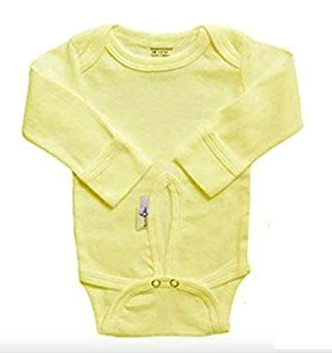 - Assessables Umbilical Newborn Bodysuit for Babys Cord 100% Cotton (Yellow)