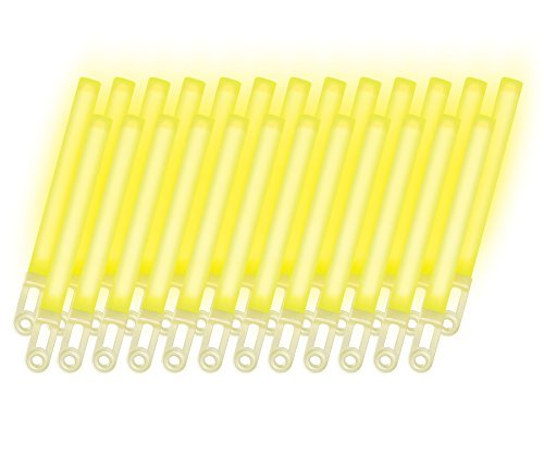 RiverRoots Light Sticks, Yellow, 7.5In, 12 Hour Duration (25 Pcs)