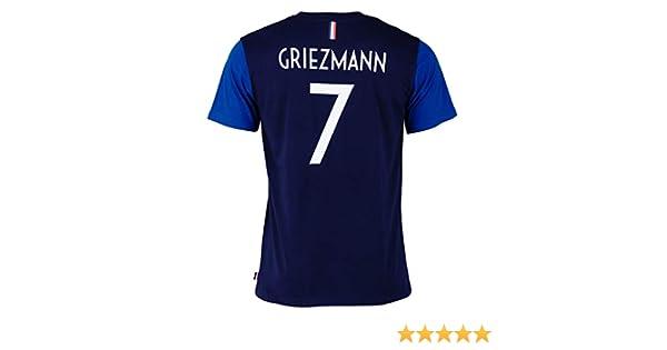 Equipe de FRANCE de football T-Shirt FFF - Antoine Griezmann - Collection Officielle Taille Adulte Homme L: Amazon.es: Deportes y aire libre