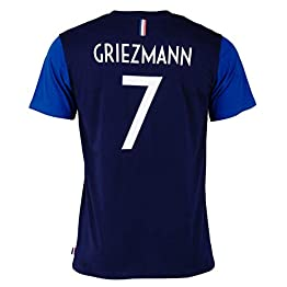 Equipe de FRANCE de football T-Shirt FFF - Antoine Griezmann - Collection Officielle Taille Adulte Homme