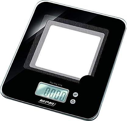 MPM Balanza De Cocina Electrónica de precisión Con Pantalla LCD ...