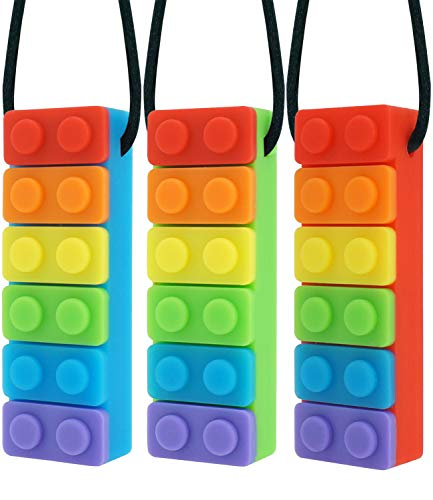 IRQ Chewy Block Sensory Chew Pencil Toppers Chewable Stimulation Textured Oral Support Boys Girls Children w//Autism Motor Skill Special Needs