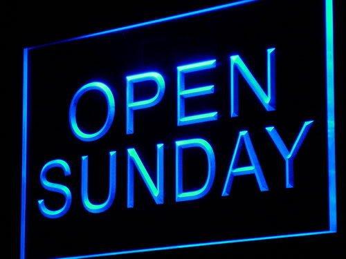 ADV PRO i449-b Open Sunday Shop Bar Pub Beer Light (Open Sunday Neon Sign)