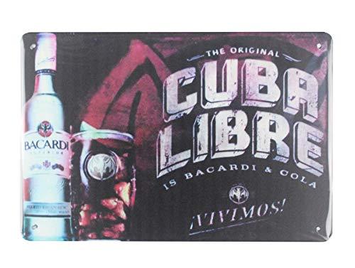 WholesaleSarong Cuba Libre Bacardi Rum Cocktail tin Metal Sign Tavern Pub Dinner Bedroom Decor Man cave Bedroom Wall Art