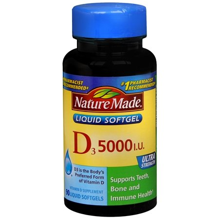 Nature Made vitamine D-3, 5000IU, 90 gélules