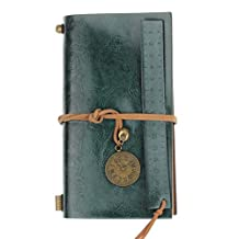 LUNIWEI Classic Vintage Faux Leather Bound Blank Pages Journal Diary Noteb...