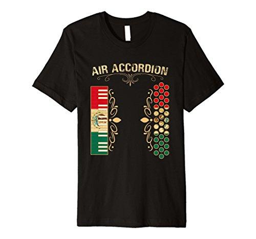 Air Accordion Shirt Vintage Mexican Flag Colors