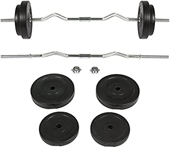Best Choice Products 56LB Curl Bar Barbell Weight Set