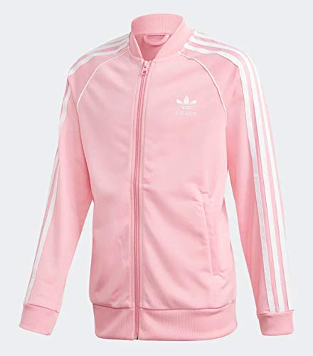 Adidas Junior Unisex Originals SST Track Jacket (L, Light Pink)