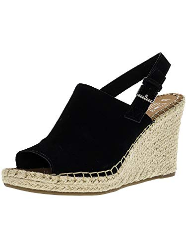 TOMS Monica Wedges Black Suede 10011842 Women's Size 9