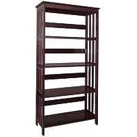 Mission Style Bookcase / Bookshelf (Espresso 4 Tier)