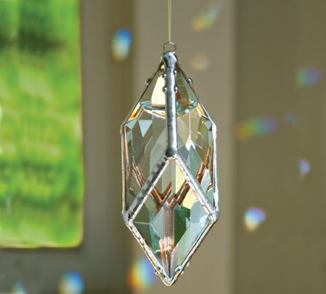 Rainbow Water Prism (Medium Diamond Rainbow Maker) Glass Crystal Suncatcher