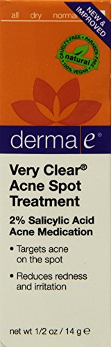 Derma E Very Clear Acne Spot Treatment, Packaging May Vary, 0.5 fl oz 16 ml Pack of 3