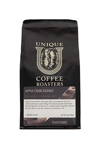Cinnamon 'Apple Cider Donut' Flavored Ground Coffee, 1 LB (16 oz) Bag, Medium Roast, 100% Arabica Premium ()