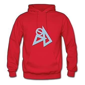 Sarahdiaz Designer Red Designed X-large Sweatshirts Style Personality Women